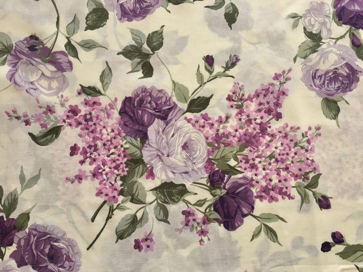 English roses fabric, rose fabric, purple fabric, flower fabric, floral fabric, cotton fabric https://www.etsy.com/listing/506249820/half-metre-50cm-english-roses-fabric