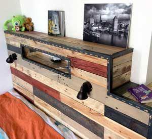 Les 25 meilleures id es de la cat gorie t te de lit en bois de r cup ration sur pinterest t te - Tete de lit en bois de recuperation ...