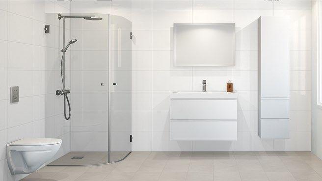 White Wall Glossy 30x60 Veggflis