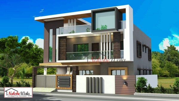 Front Elevation House Chandigarh : Ground floor residential building elevation