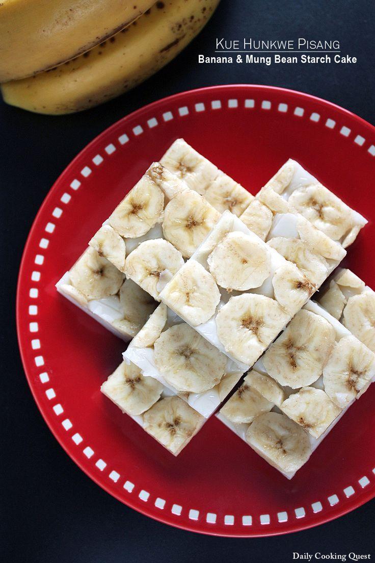 Kue Hunkwe Pisang - Banana and Mung Bean Starch Cake