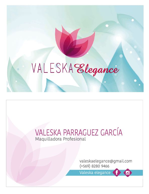 Diseño de tarjeta para maquilladora x Kata Melgarejo Pajarita Make up
