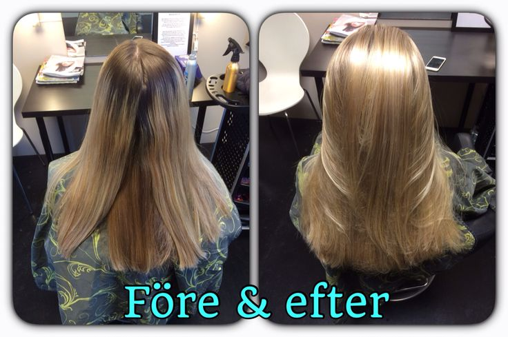 Before and after  Olaplex blond hair