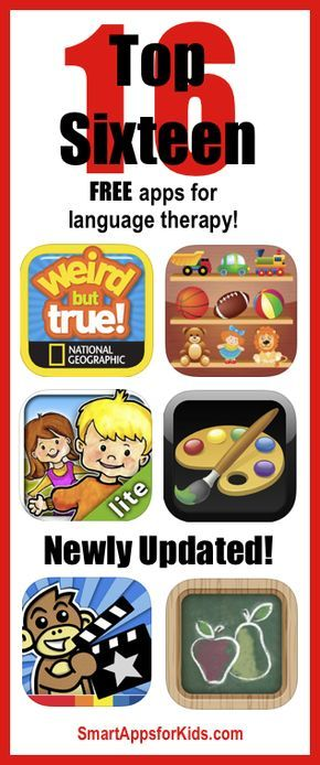 Newly updated! Top FREE apps for language therapy! http://www.smartappsforkids.com/2014/05/newly-updated-top-free-apps-for-language-therapy.html
