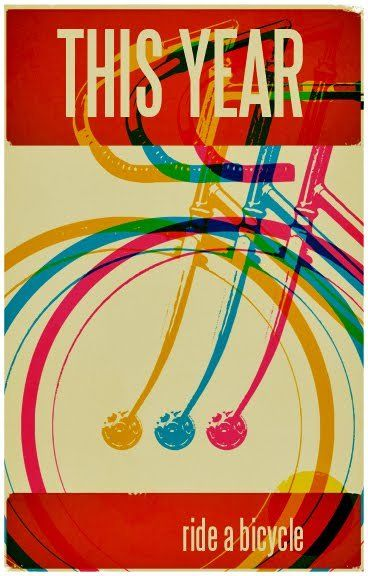 This year ride a bicycle!