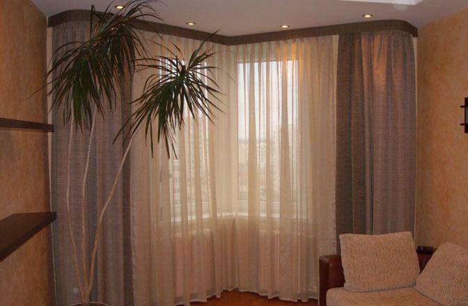Удивительные и эффектные угловые шторы.