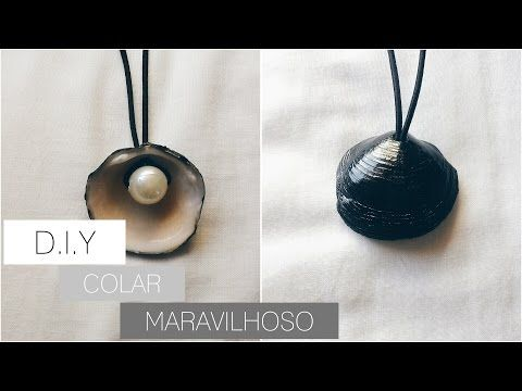 D.I.Y: COLAR DE CONCHA INSPIRADO NO TUMBLR - YouTube
