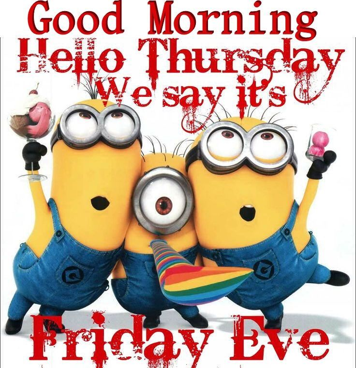 Good Morning Hello Thursday Minions minion minions good morning thursday thursday quotes good morning quotes happy thursday thursday quote good morning thursday happy thursday quote