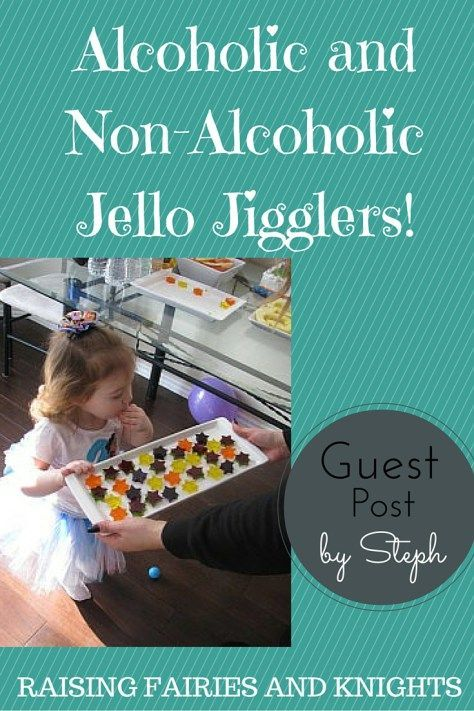 Alcoholic and Non-Alcoholic Jello Jigglers! - perfect for parties for adults and kids!  Great for the holidays.