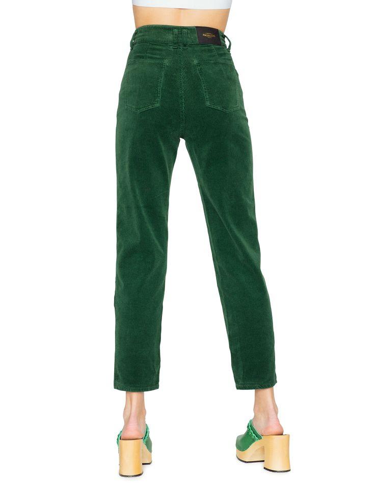 wish these were full length Swedish Hasbeens HasJeans Mom Deep Green Corduroy