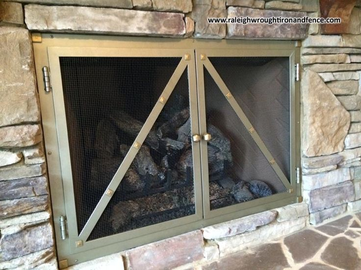 Custom Made Iron Firepit and Fireplace Screen Doors  Raleigh Wrought Co Best 25 iron fireplace screen ideas on Pinterest