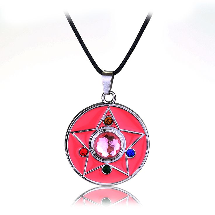 2015 New Fashion Statement Necklace High quality sailor moon pendant necklace star shaped pink necklace for girls Women 1pc #Affiliate