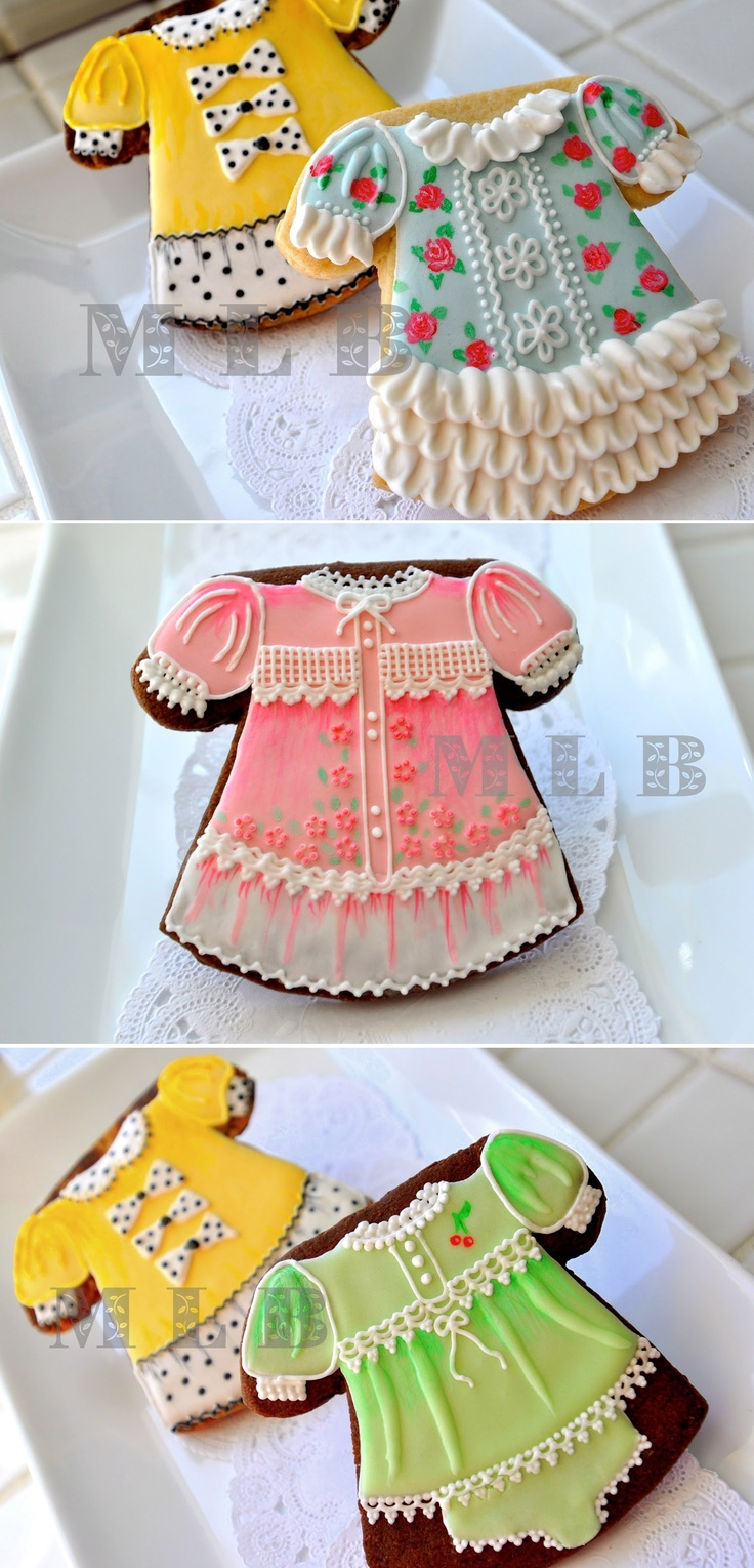 Little Dress Cookies - for a shower or birthday party