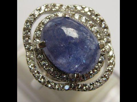 Cincin Wanita Silver 925 Ring 7.5 US Batu Permata Tanzanite Asli