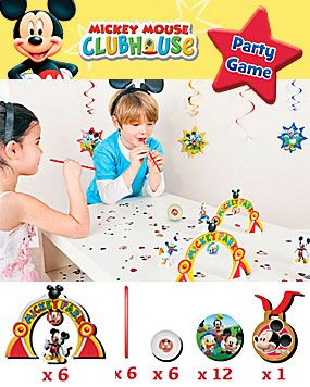 Mickey Mouse Party Game - Blow Ball