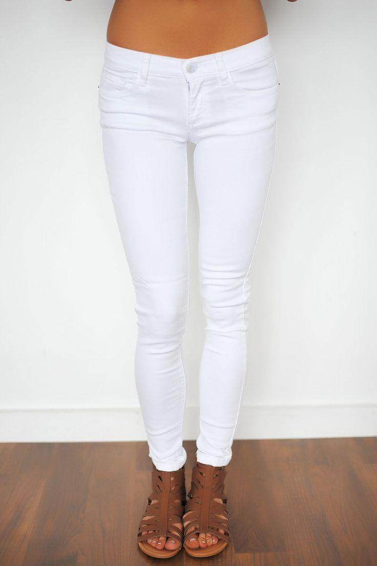 White Stretch Skinny - Dottie Couture Boutique