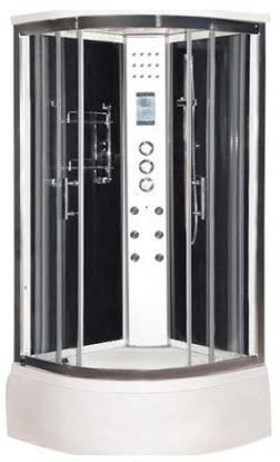 Lisna Waters Black LW4 steam shower cabin