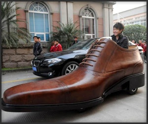 The shoe and the car! What do people think? Some things are just weird!