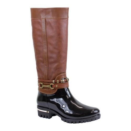 The Ranch-01 Glossy Two Tone Rain Boots have a stylish versatile design wont make you sacrifice your awesome style for bad weather. It features a double ankle strap with metal ornaments and metal acce