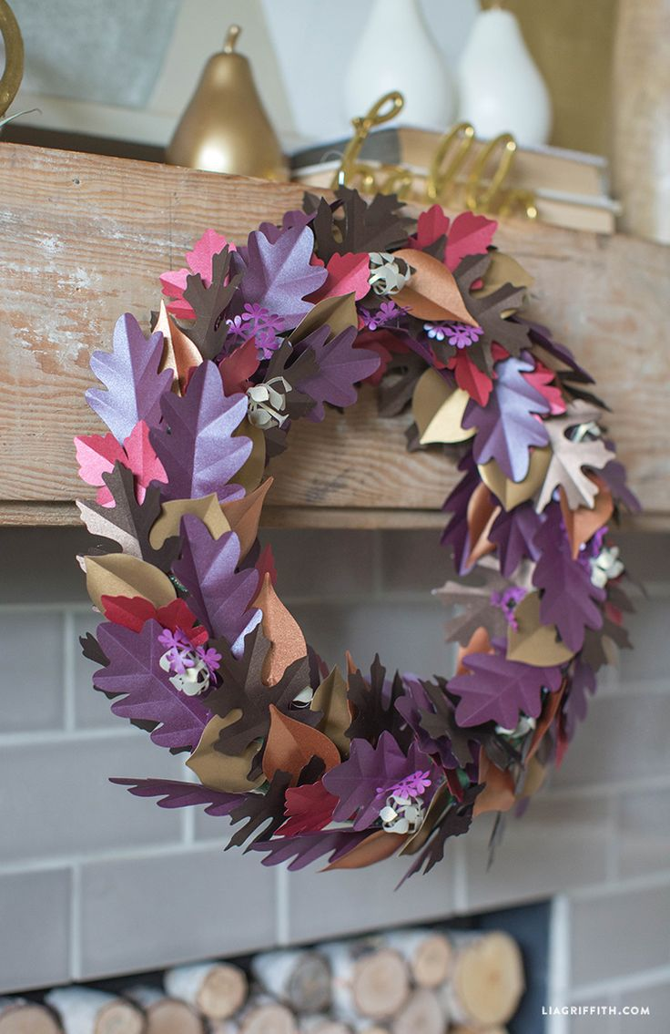 DIY Fall Paper Wreath tutorial from MichaelsMakers Lia Griffith
