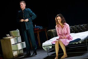 Ian-Lloyd Anderson (Jack Clitheroe) and Kate Stanley Brennan (Nora Clitheroe) in The Plough and the Stars.