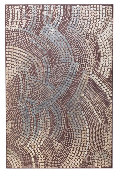 Wave sequin wall panel by Geraldine Larkin has an Art Deco feel for a knockout piece of textured art.