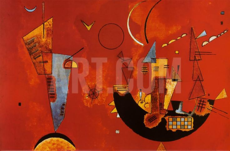 Mit Und Gegen Poster by Wassily Kandinsky at eu.art.com