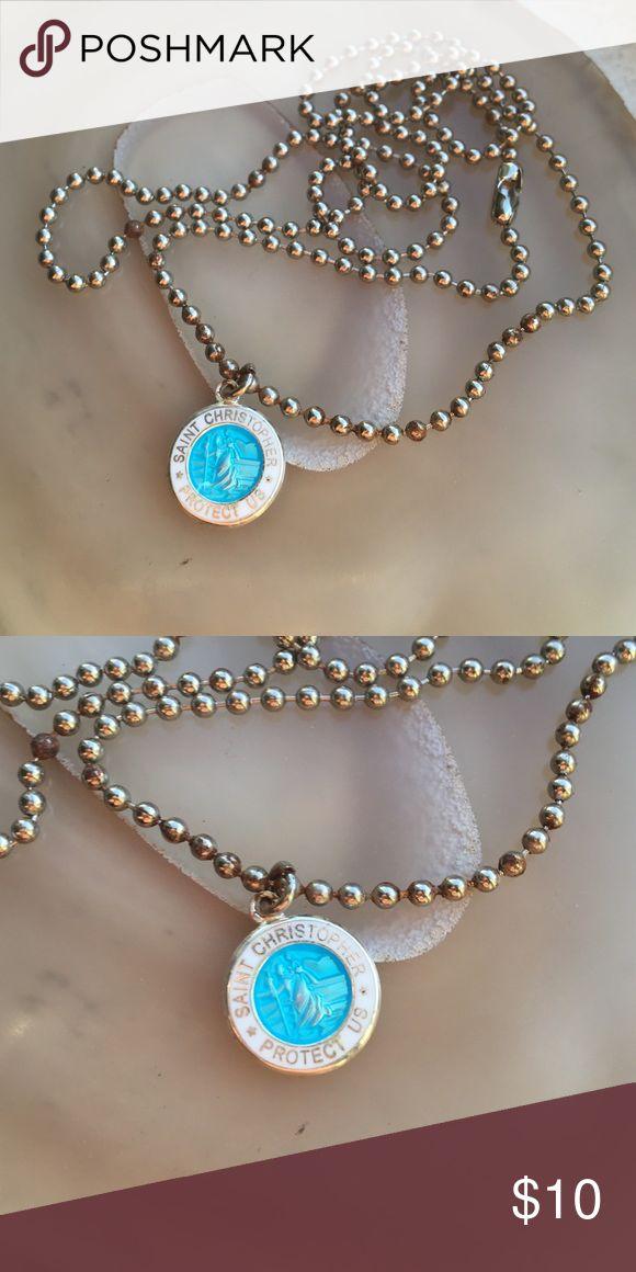 Saint Christopher surf necklace Saint Christopher protect us surf necklace Jewelry Necklaces
