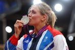 Sterling performance for silver: Gemma Gibbons was the toast of Britain during the Olympic judo competition