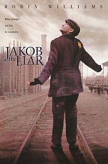 Jakob the Liar is a 1999 American tragicomedy film directed by Peter Kassovitz and starring Robin Williams, Alan Arkin, Liev Schreiber, Hannah Taylor-Gordon, and Bob Balaban. The movie is set in 1944 in a ghetto in German-occupied Poland in the times of the Holocaust and is based on the book by Jurek Becker about World War II Jewish ghetto life. It is also a remake of the East German DEFA film Jakob der Lügner from 1975.