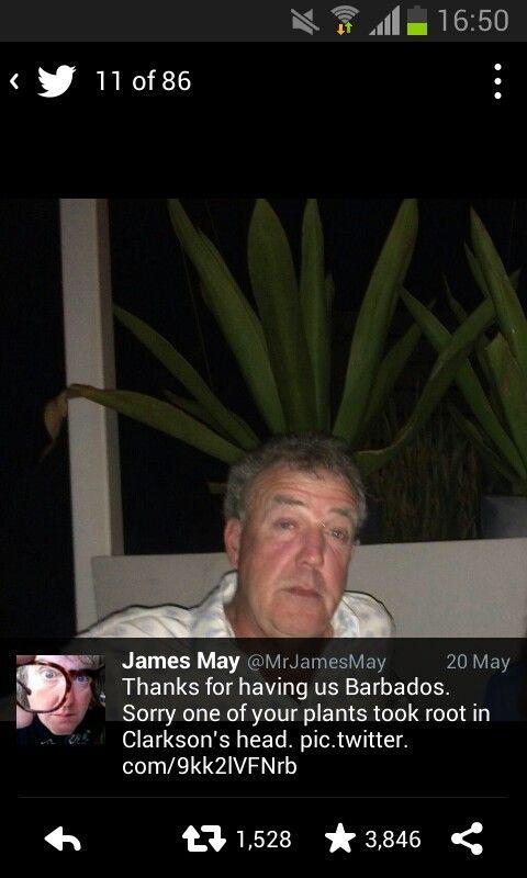 Jeremy Clarkson, James May, TopGear via Twitter