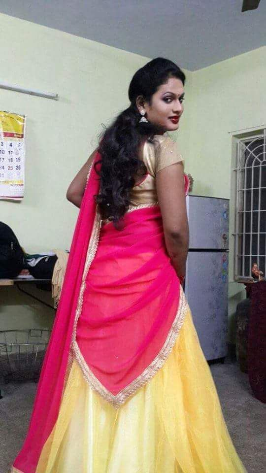 1 Half Saree Indian Crossdresser Umasankar90 Indian