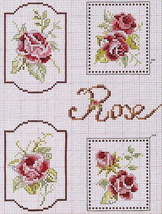 """Милые сердцу штучки: Вышивка крестом: """"Этикетки"""""""