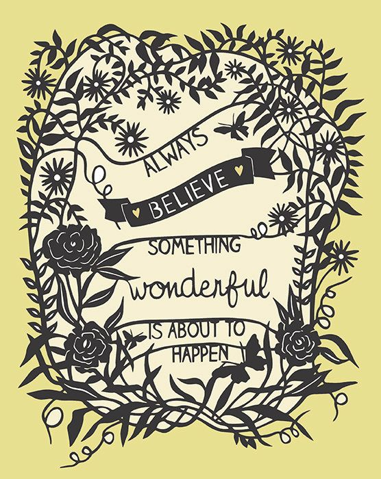 Something Wonderful Print of Original Papercut by Sarah Trumbauer