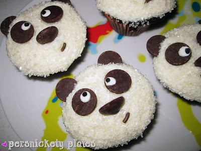 My mom made me a panda bear cake when I turned three.  Maybe I will make these for my little girl.