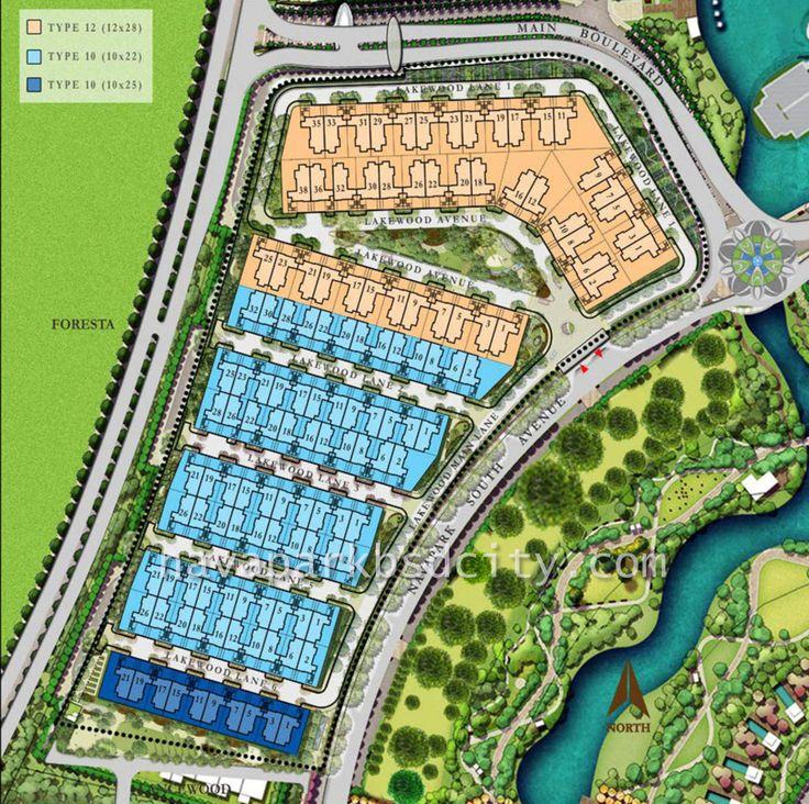 Master plan Cluster Lakewood NavaPark BSD