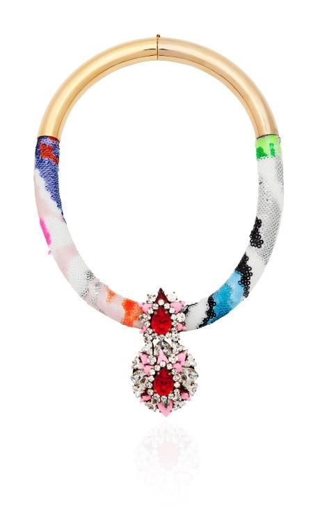 Zulu Necklace In Multi by Shourouk for Preorder on Moda Operandi
