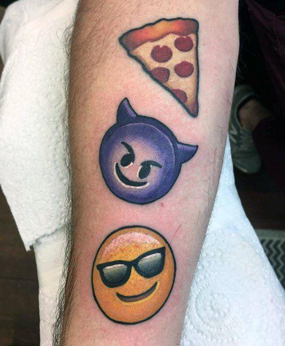 30 Emoji Tattoo Designs For Men Emoticon Ink Ideas Emoji Tattoo Small Tattoos Tattoos