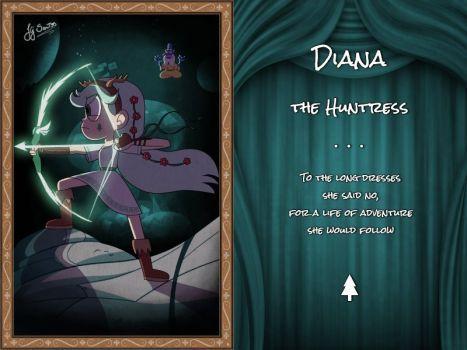 Diana la cazadora A los vestidos largos dijo que no, por una vida de aventura que ella seguiría
