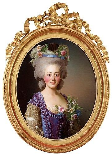 """Alexander Roslin 1718-1793 """"Grevinnan de Bavière-Grosberg"""". Signerad Pd par Alex. Roslin och daterad 1780"""
