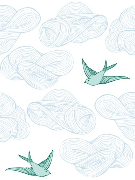 Boys bathroom wallpaper. Hygge & West | Daydream (Green) Tile