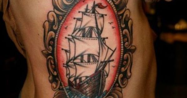 Cameo tattoo Ships and Tattoos and body art on Pinterest