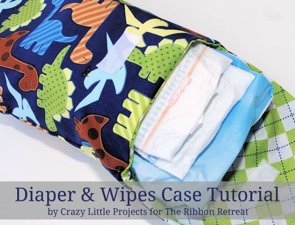 Diaper and wipes case tutorial and pattern- super fast and easy gift!!