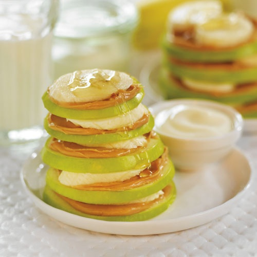 Peanut Butter and Banana Apple Stack 'n Dip