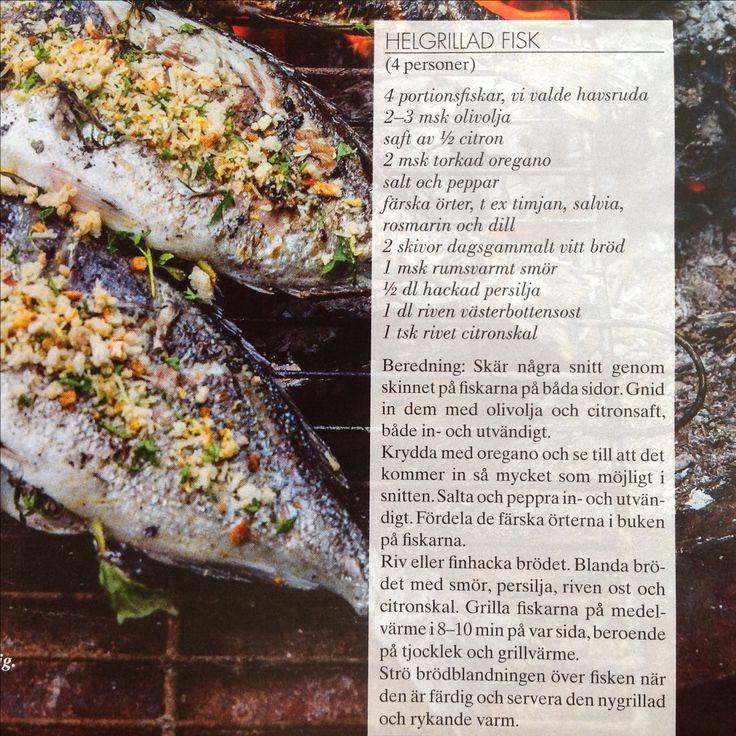 Helgrillad fisk