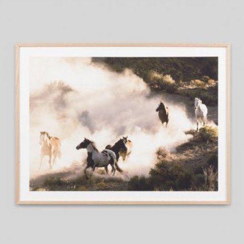RUNNING HORSES FRAMED PRINT | Design Twins