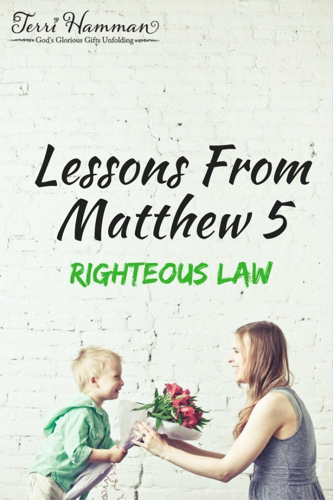 In Matthew chapter 5, after Jesus speaks about Christian law He then teaches us about how He is the fulfillment of the righteous law. Join me for bible study at TerriHamman.com