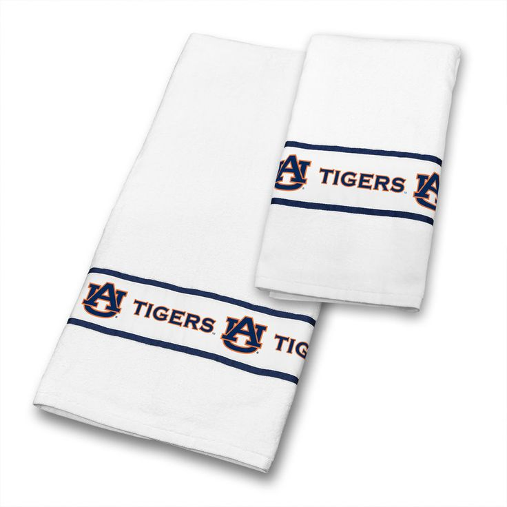 auburn tigers 6 pc bathroom towel set includes 3 bath towels 3 hand towels