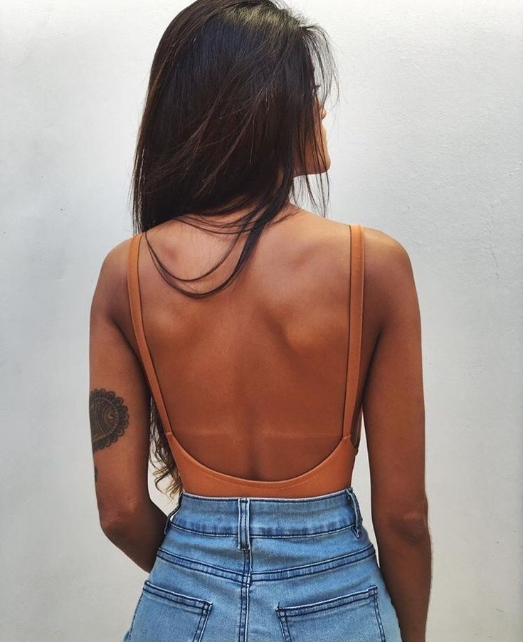 Would wear if I had a nice back, but I feel too fat to do that. I love this so much.