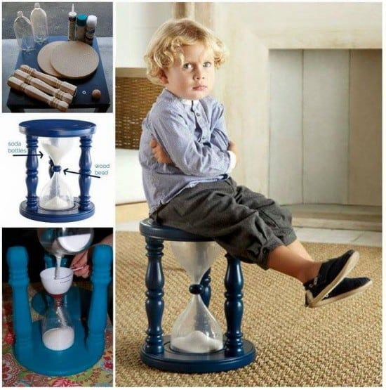 Time Out Stool Hourglass